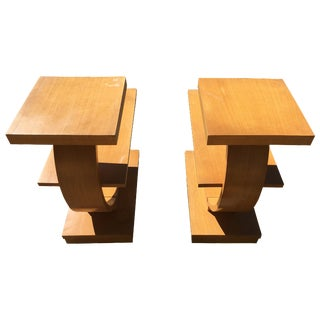 Brown Saltman Original End Tables - A Pair