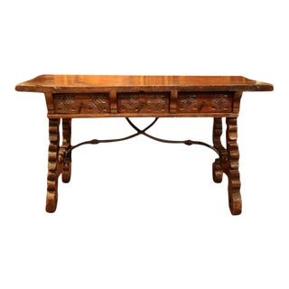 18th Century Spanish Carved Walnut Table