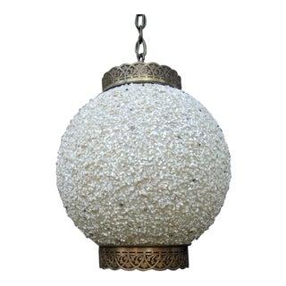 Mid Century Modern Resin Globe Chandelier