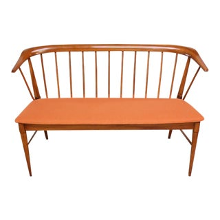 Mid-Century Modern Spindle Back Bench