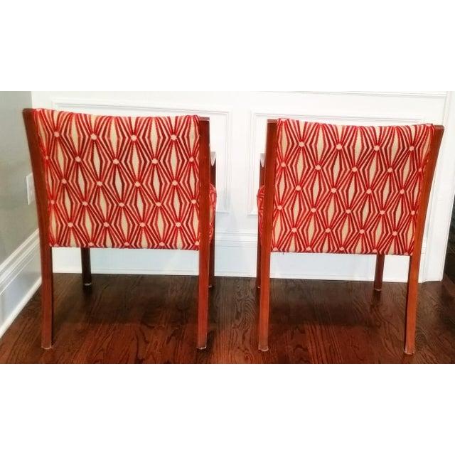 Stow Davis Velvet Geometric Chairs - A Pair - Image 6 of 8