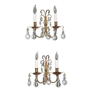 French Dore' Bronze Sconces - Pair