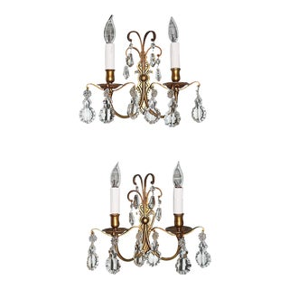 French Dore' Bronze Sconces - Pair