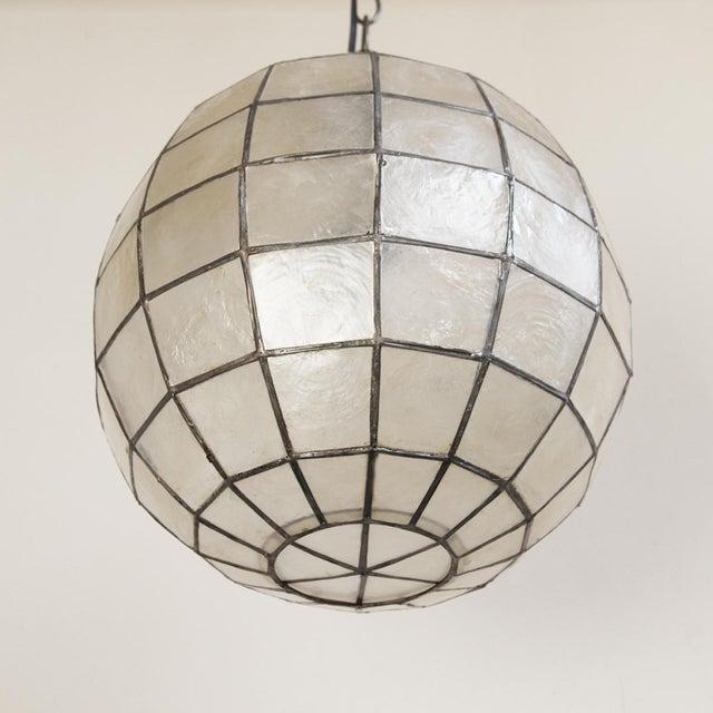 capiz globe lantern chairish. Black Bedroom Furniture Sets. Home Design Ideas