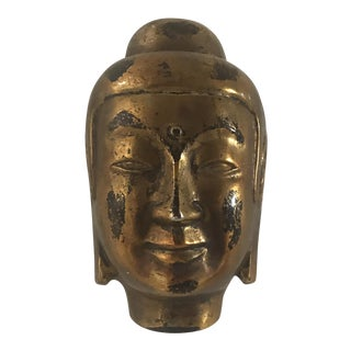 Vintage Gold Leaf Buddha Head