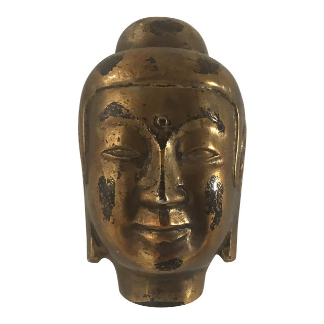 Image of Vintage Gold Leaf Buddha Head