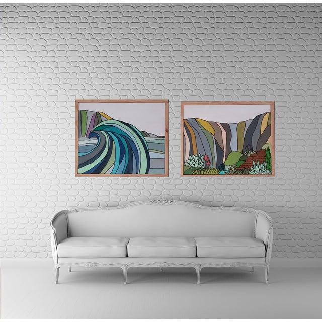 "Image of Kris Gould ""Stairs"" Block Art"
