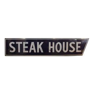 1950s Porcelain Steak House Sign
