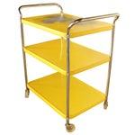 Image of Mid Century Metal Bar Cart