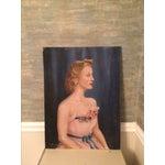 Image of Vintage Beauty Queen Oil Portrait Painting