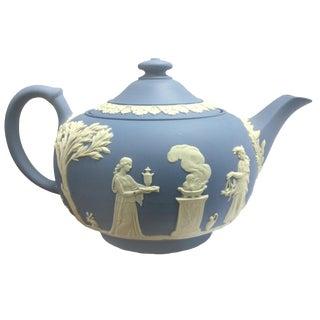 1950 Vintage Wedgwood Blue Teapot