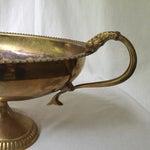 Image of Brass Handled Pedestal Bowl