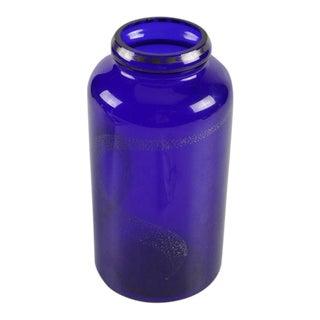 """Fireflies"" Cobalt & Platinum Glass Vase"