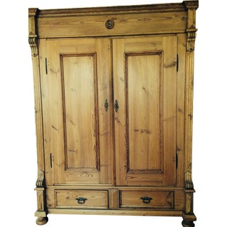 German Antique Pine Armoire
