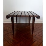 Image of Mid-Century Modern Walnut Slat Bench