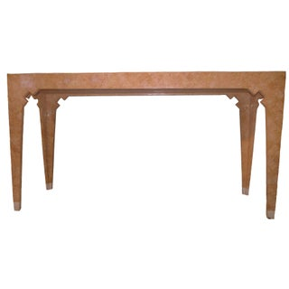 Maitland Smith Pink Geometric Tessellated Stone Console Table