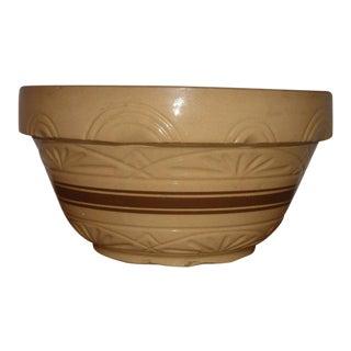Antique Primitive Yellow Ware Bowl