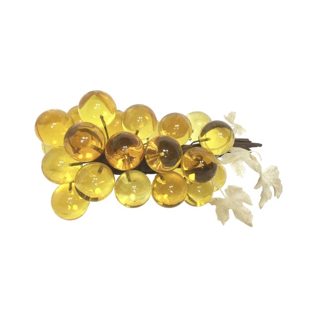 Large Yellow Lucite Grapes - Image 1 of 3