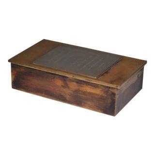 Mid-Century Brass Box wWedding Invitation Print Plate