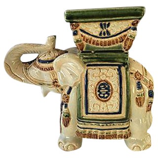 Green & Ivory Elephant Stand Planter