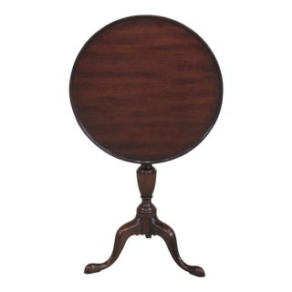 Kittinger Colonial Williamsburg Model CW-11 Mahogany Tilt Top Table