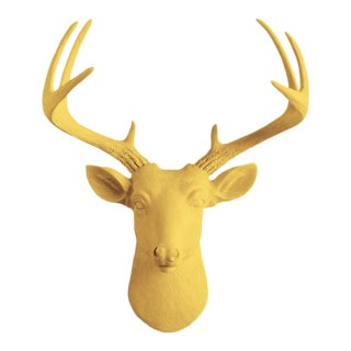 Wall Charmers Curry Orange Faux Taxidermy Mini Deer Head Mount