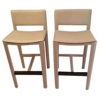 Room & Board Ivory Madrid Bar Stools - A Pair