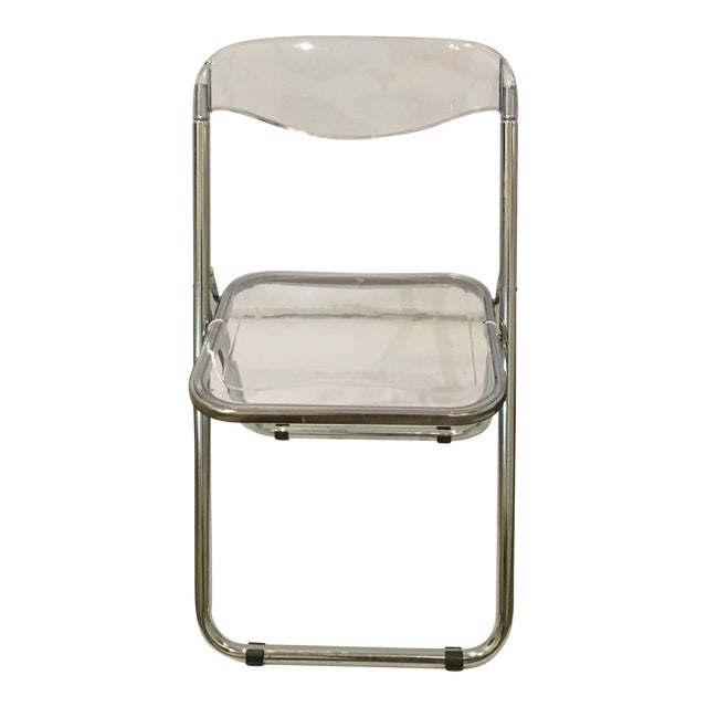 Set of Six Lucite Folding Chairs - Image 2 of 7