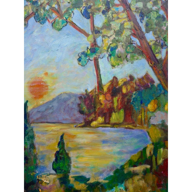 Sunset on the Lake Plein Air Painting - Image 2 of 6