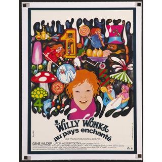 """Willy Wonka & Chococlate Factory"" French Poster"