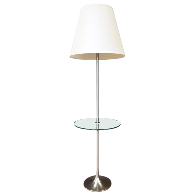 Laurel Tulip Base Floor Lamp With Floating Glass Table