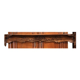 19th Century French Carved Walnut Hanging Decorative Shelf from Normandy