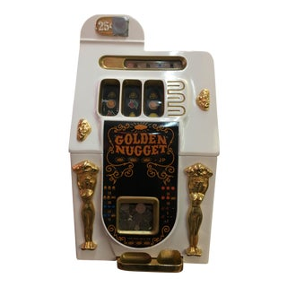Mills White Golden Lady 25 Cent Slot Machine