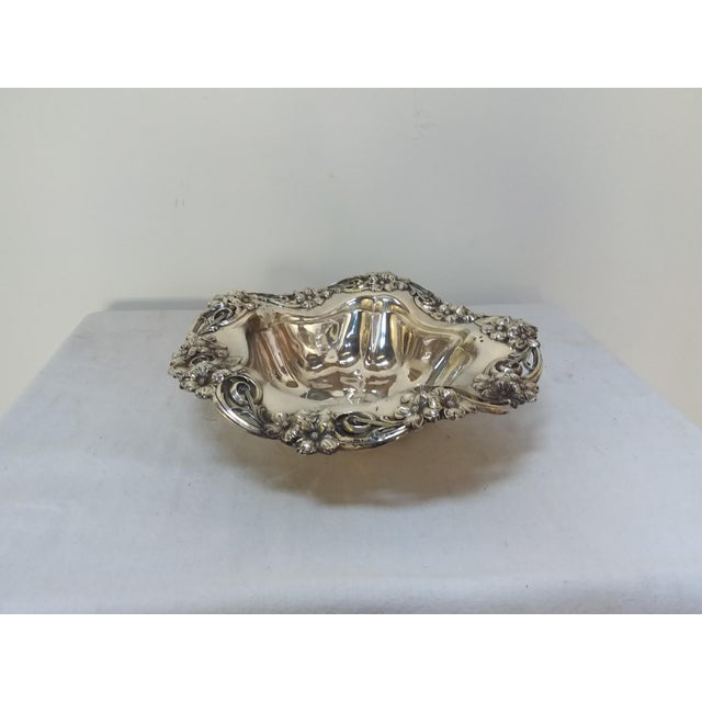Wallace sterling silver large floral bowl chairish for Burke and wallace silversmiths