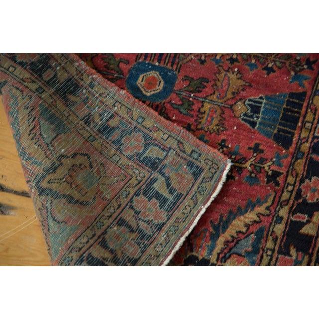 "Vintage Persian Sarouk Rug Mat - 2'3"" X 2'9"" - Image 6 of 7"