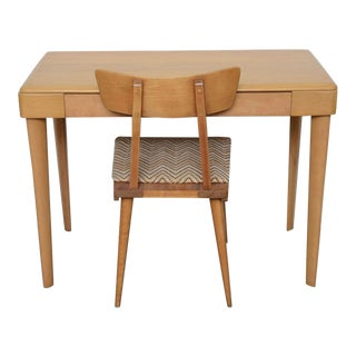 Heywood Wakefield Maple Desk 1960s--Chair sold Desk comes solo