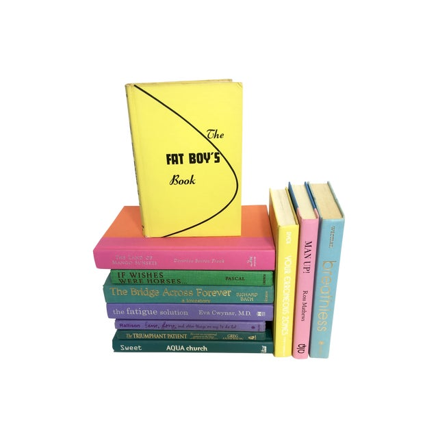 Brightly Colored Decorative Books - Set of 11 - Image 1 of 6