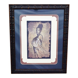 """Contemporary """"Woman"""" Framed & Matted Print"""