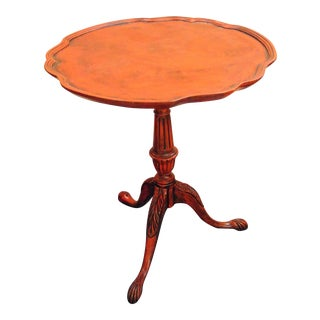 Vintage Painted Pie Crust Table