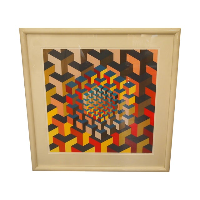 Abstract Cube Print - Image 1 of 3