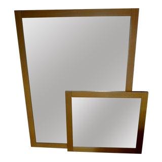 Custom Oak Mirrors - A Pair