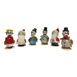 Vintage Christmas Mercury Glass Ornaments- S/6