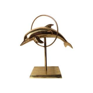 Mid-Century Brass Dolphin Figure