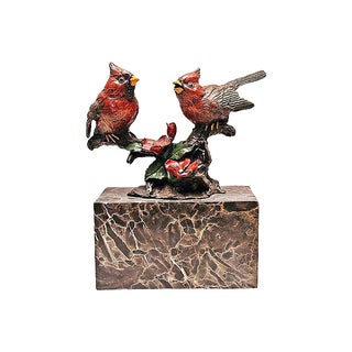 Bronze Cold-Painted Cardinals