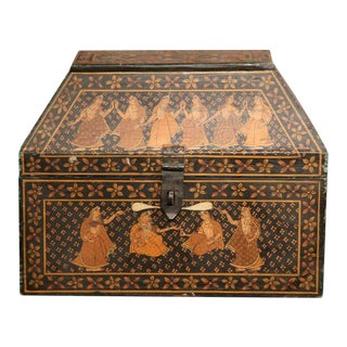 19th Century French Painted Wood Decorative Box