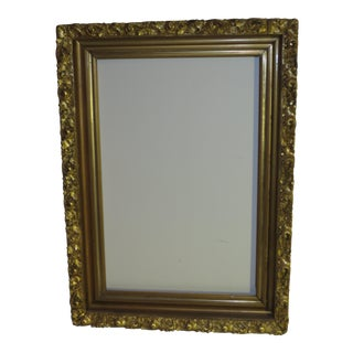 """Antique Wood Gesso Gilded Picture Frame 17"""" X 23"""""""