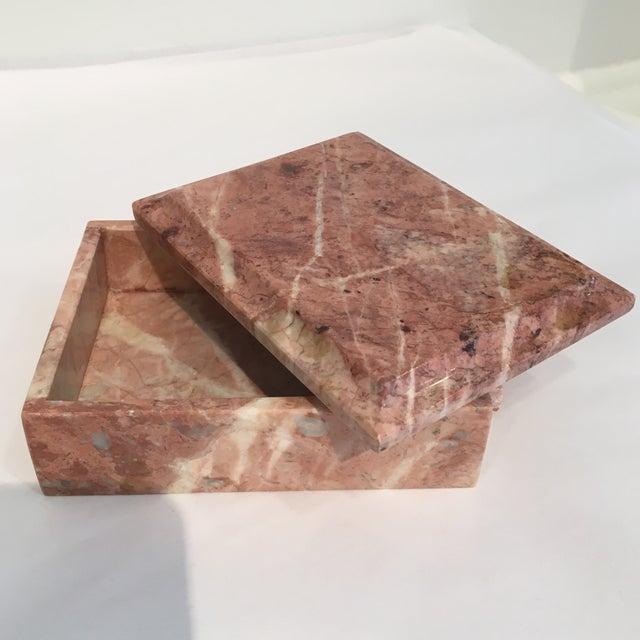 Image of Vintage Beveled Marble Box