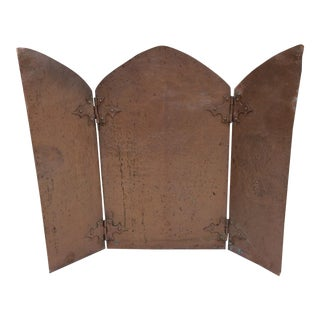 Antique Hammered Copper Folding Screen