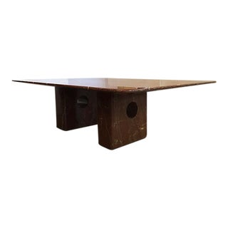 Large Rectangular Marble Coffee Table