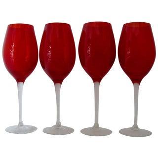 Cherry Red Stemware - Set of 4